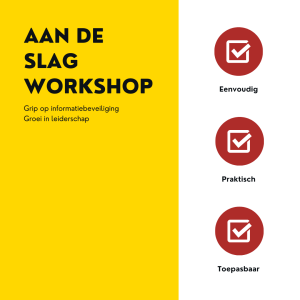 AAN DE SLAG WORKSHOP